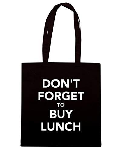 Speed Shirt Borsa Shopper Nera TKC3650 DON'T FORGET TO BUY LUNCH