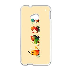Popular And Durable Designed TPU Case with Pokemon Pokemon HTC One M7 Cell Phone Case White