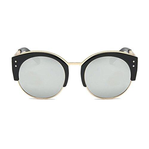 monture de hommes demi soleil Argent mode de dames sans classique soleil femmes de UV400 semi GAOLIXIA lunettes monture protection Lunettes rondes pour 0g11Z