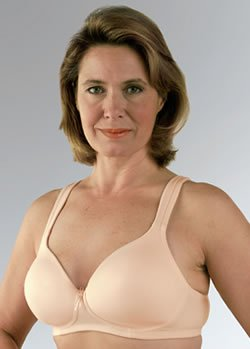 Classique Seamless, Molded Post-Mastectomy (Pocket) bra (#759E) (38A, Blush Beige)