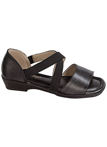 Angelsteps Donna Adulto Angelo Passi Julianne Sandali Casual Neri