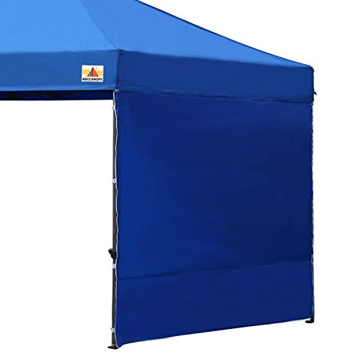 ABCCANOPY 15+Colors 10' Sun Wall 10'x 10' Straight Leg pop up Canopy Tent, 10' Sidewall kit (1 Panel) Truss Straps (Blue-1)