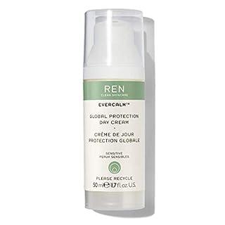REN Clean Skincare Evercalm Global Protection Day Cream Daytime Face Moisturizer to Nourish Skin & Relieve Dryness 1.7 Fl Oz