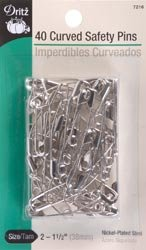 Dritz Bulk Buy Curved Safety Pins Size 2 40/Pkg 7216 (3 Pack)