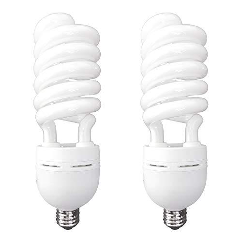 (Luxrite LR20215 (2-Pack) 65-Watt High Wattage CFL Spiral Light Bulb, Equivalent To 300W Incandescent, Warm White 2700K, 4100 Lumens, E26 Standard Base)