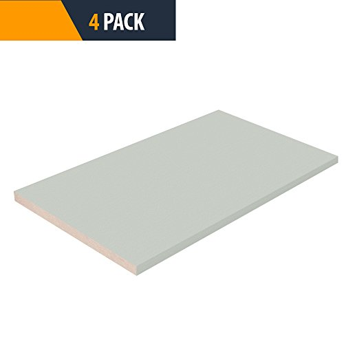 Closet Shelves Melamine - Grey Color - 16'' D x 23'' W - Choose Your Size - 4 Pack by TFKitchen