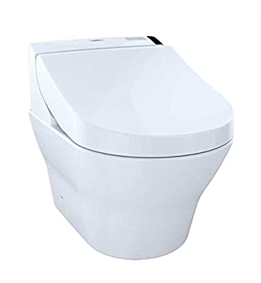 TOTO CWT4372047MFG-3#01 MH Connect+ Wall-Hung Toilet and C200 Washlet Bidet Seat, Cotton
