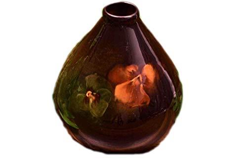 Weller Pottery 1896-1924 Louwelsa Pansies Beehive Vase #325 ()