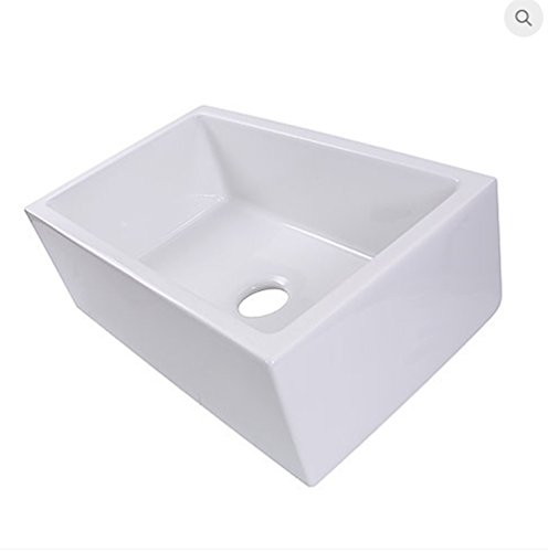 Highpoint Collection HP-FC30 Italian Fireclay 30-inch Single Bowl Farmhouse Pre-assembled Kitchen Sink White! ()