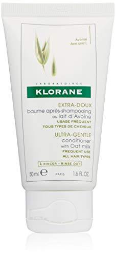 Klorane Ultra-Gentle Conditioner with Oat Milk, Suitable for the Entire Family, Paraben and Sulfate-Free, 1.6 oz. (Klorane Shampoo Oat Milk)