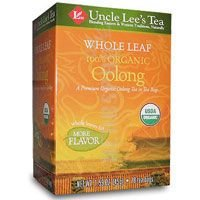 Whole Leaf 100% Organic Oolong Tea, 18 Bags (Pack of 6)