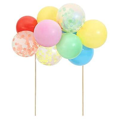 Meri Meri Rainbow Balloon Cake Topper Kit with 11 balloons: Toys & Games