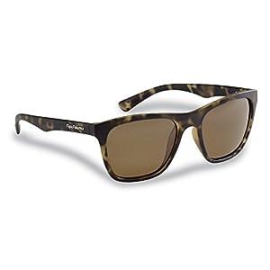 Flying Fisherman Fowey Polarized Sunglasses with Tortoise Frames, Amber Lenses