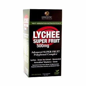 Genceutic Naturals Lychee Super Fruit 500 mg, Veggi Caps 90 ch