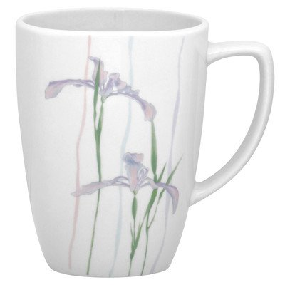 Corelle Square Shadow Iris 12-oz Porcelain Mug