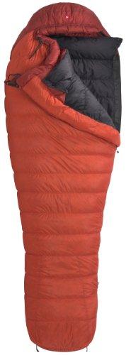 Marmot Couloir Down Sleeping Bag, Regular-Right, Red, Outdoor Stuffs