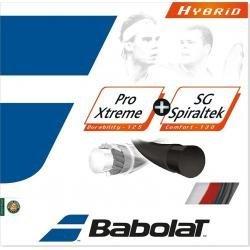 Hybrid Tennis String - Babolat-Pro Xtreme 17G and SG Spiraltek 16G Hybrid Tennis String-(3324921314969)