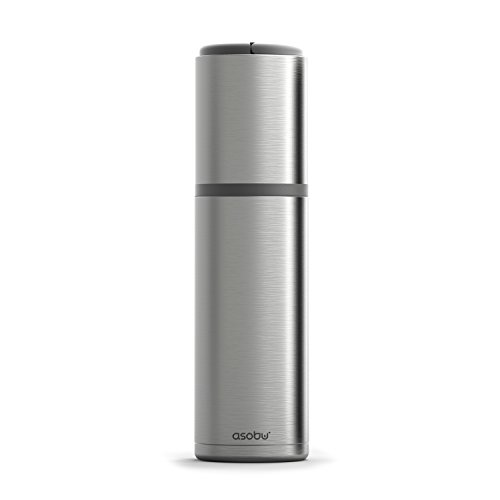 Asobu Vin Blanc Portable Vacuum Insulated, Double Wall Stainless Steel Wine Chiller (Silver)