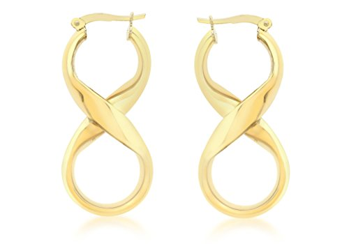 Boucles d'oreilles créoles or jaune 9carats Figure 8