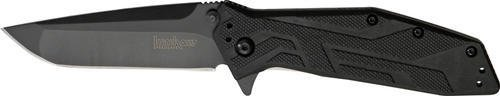 "Kershaw Brawler (1990) Folding Pocket Knife with 3"" Back-Oxide Finished High-Performance 8Cr13MoV Steel Blade; Black Glass-Filled Nylon Handle Scales with Reversible 4-Position Pocketclip; 3.9 oz."