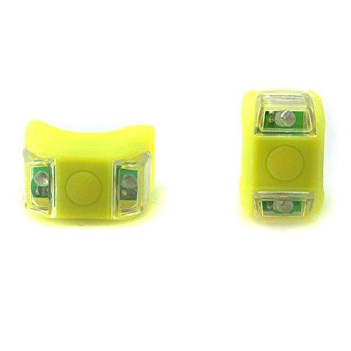 RICISUNG LED Clip-On Silicon Band Bicycle Lights Rear Safety Warning Lamp 2 Pcs