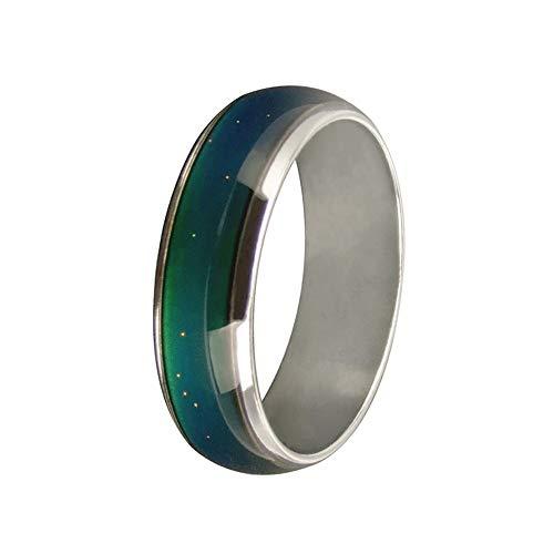 JOYID 6mm Color Changing Ring Mood Emotion Temperature Index Copper Color Change Ring for Women Men-Size 5