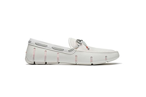 SWIMS Lace Loafer In White/Gray, Size 12 by SWIMS