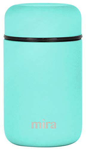 MIRA Lunch, Food Jar | Vacuum Insulated Stainless Steel Lunch Thermos | 13.5 oz | Teal ()