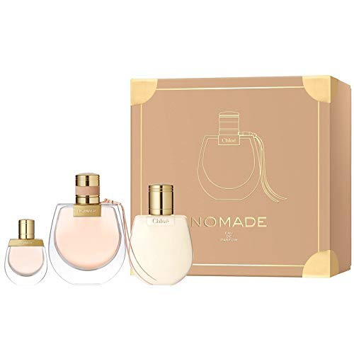 Chloe Nomade for Women 3 Pieces Hard Box Set (2.5 Eau de Parfum Spray + 3.4 Perfumed Body Lotion + 5 Ml Mini)