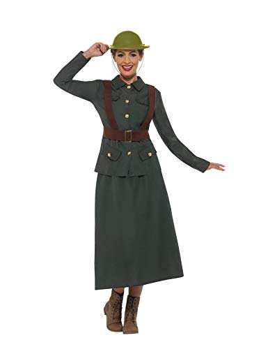 (Smiffys WW2 Army Warden Lady Costume Large)