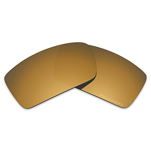 Tintart Performance Lenses Compatible with Oakley Gascan Polarized Etched-Tungsten Gold (Oakley Gascan Bronze Lenses)