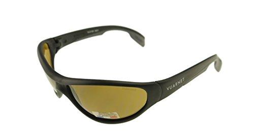 Vuarnet Matte Black / Polarized Brown PC 2000 Sunglasses VL 0109 - 2000 Sunglasses