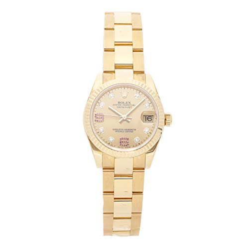 Scattered Diamond Watch - Rolex Datejust Mechanical (Automatic) Champagne Dial Womens Watch 178278 (Certified Pre-Owned)