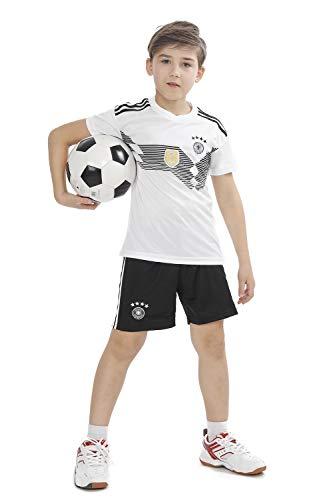 褒賞軍気付くサッカー ワールドカップ 2018 ドイツ代表 ホーム レプリカ ユニフォーム 半袖 キッズ XL