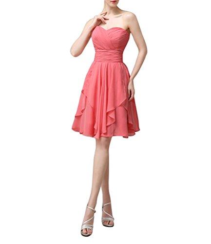 WeiYin Women's Knee Length Sweetheart Party Dress Bridesmaid Dresses