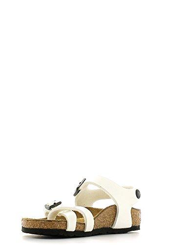 BIRKENSTOCK - Infradito bianco in ecopelle con sottopiede in sughero, Unisex Bambino, bambina, ragazza, ragazzo, donna, uomo