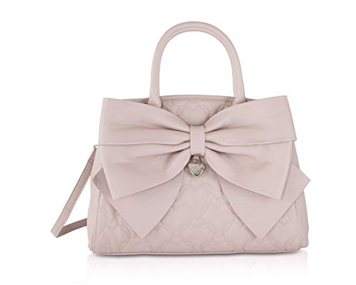 Betsey Johnson Womens Big Bow Satchel Blush One Size - Johnson Evening Betsey