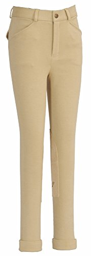TuffRider Boy's Patrol Light Jods Breech, Light Tan, (Boys Breeches)