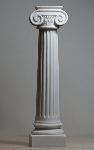 [Greek Ionic order Column Pillar Pedestal Statue Alabaster Sculpture Decor 11