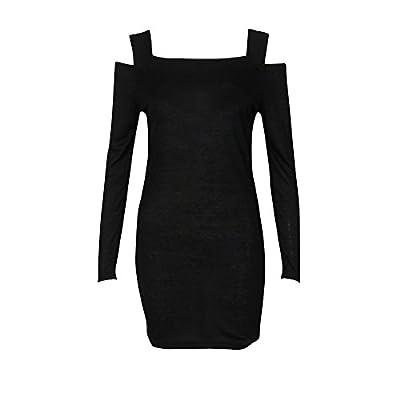 Muranba Womens Dresses Crew Neck Long Sleeve Knit Knitwear Short Mini Dress M/L/XL/XXL