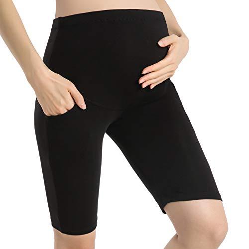 Ferrieswheel Story Maternity Shorts for Women Pregnancy Leggings with Pockets Short Pants -