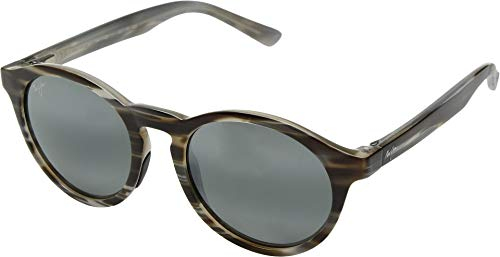 Maui Jim Pineapple 784-14D | Polarized Slate Grey and Brown Stripe Classic Frame Sunglasses, with with Patented PolarizedPlus2 Lens ()