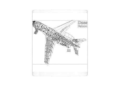 Mug of Dassault Falcon 2000 Cutaway Drawing (1569913)