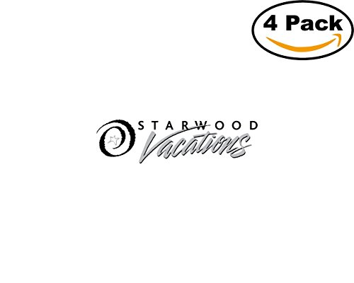 Office Starwood (Starwood Vacations 1 4 Stickers 4X4 inches Car Bumper Window Sticker Decal)