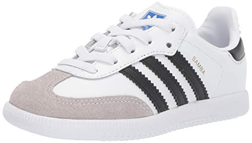 adidas Originals Baby Samba Og El I Sneaker, FTWR White/core Black/Clear Granite, 9.5K M US Infant