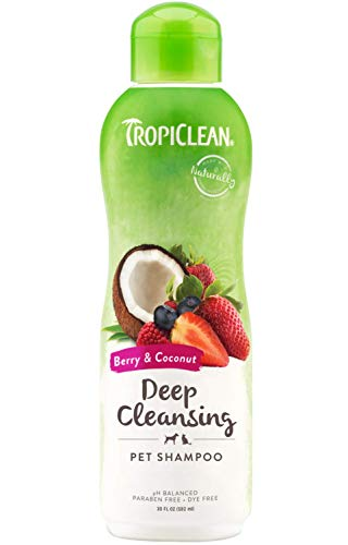 TropiClean Berry & Coconut Deep Cleaning Shampoo for Pets, 20oz, Made in USA