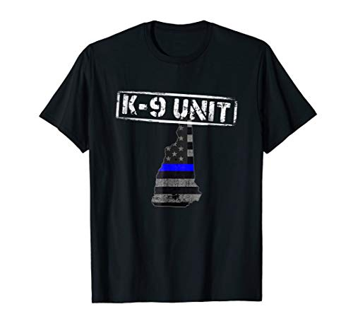 New Hampshire K-9 Police Officer T-Shirt LEO Law
