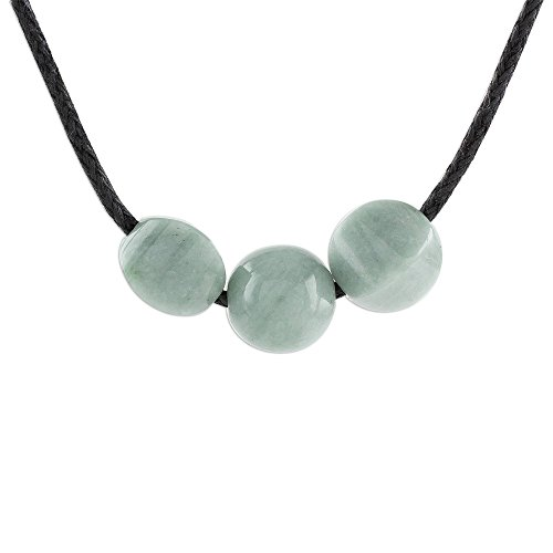 NOVICA Jade Pendant Necklace, 15.5