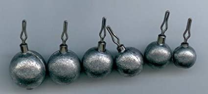 Free Shipping 25 Lead Fishing Weights 8 oz Cannonball Sinkers