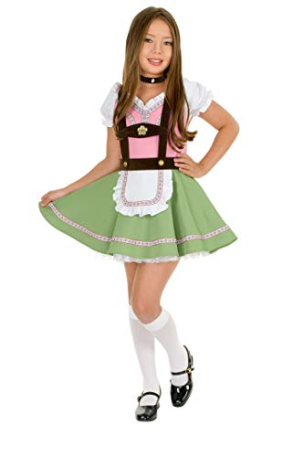 (Charades Little Girl's Swiss Alps Dress Childrens Costume, as Shown,)